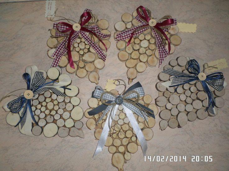 cuori fuori porta in legno decorati a mano, by cuori pezze e fantasia, 9,00 € su misshobby.com