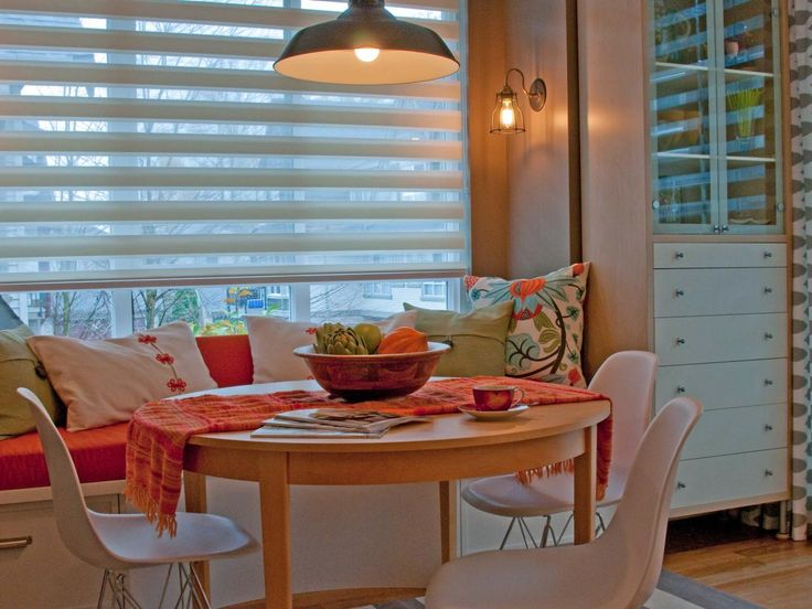 Eclectic Dining Rooms From Jil Sonia McDonald On HGTV Room Office Put Bench Seat Up Against Window Then The Wall