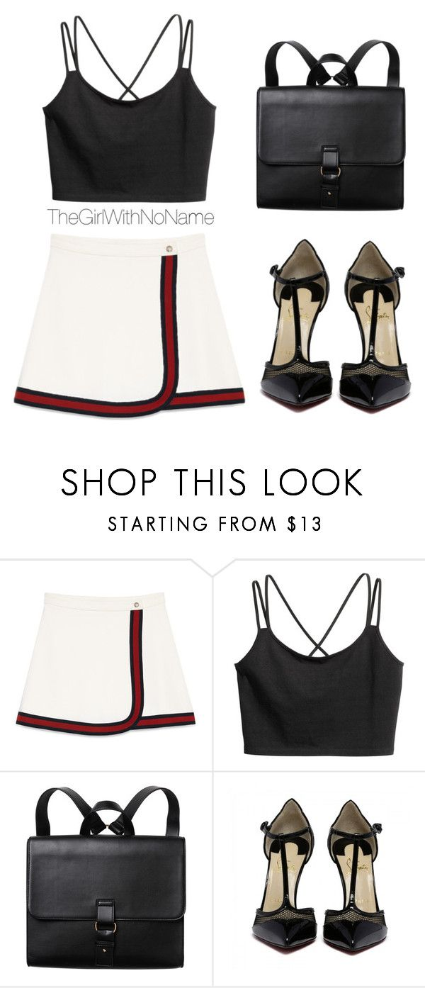 """""""black"""" by helga-fly on Polyvore featuring Gucci and Monki"""