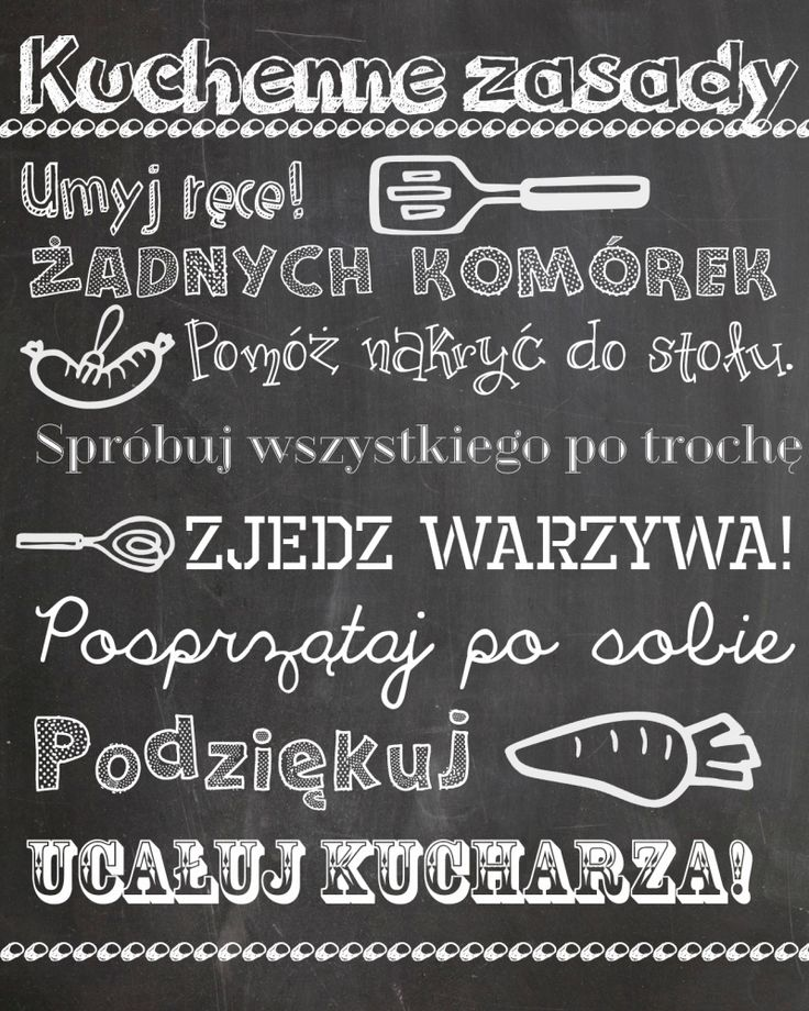 Kuchenne zasady – darmowa wersja do druku. | Madziof .pl