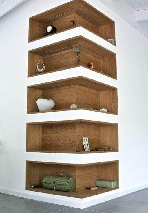 25 Dreamlike Corner Wall Shelves for Bedroom – #Be…