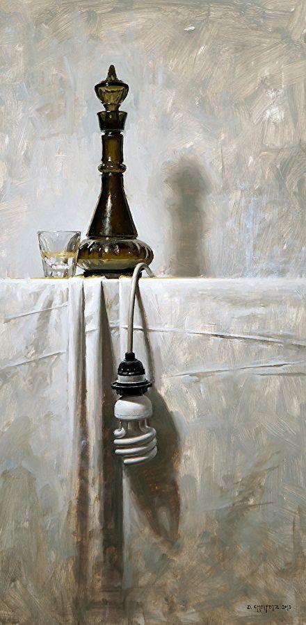 Vacancy by David Cheifetz Oil ~ 24 x 12