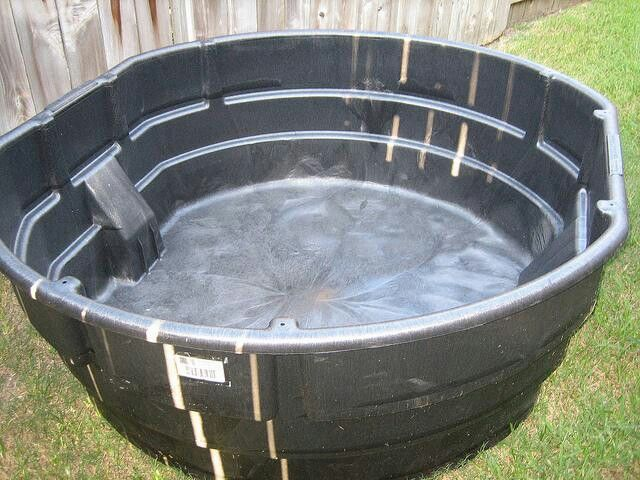 Just ordered this online 300 gallon stock tank pond for Fish tank in pond
