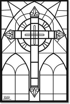 Cross Color Your Own Stained Glass