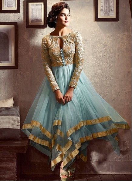 NEW ARRIVALS!! FLAUNT YOUR STYLE!! Sky Blue Embroidery Work Silk Net Anarkali Suit Product Order Link : http://www.maplefashions.com/new-arrivals/sky-blue-embroidery-work-silk-net-anarkali-suit_5577#.U41l-nKSxIE Call or Whatsapp : +919377152141 SHOP NOW!!