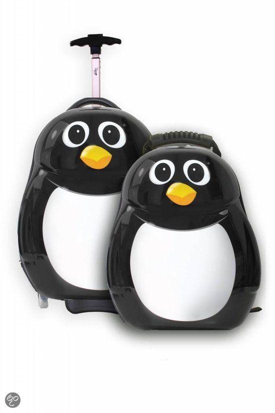 Cuties and Pals Pinguin Peko - Kinderkoffer -46 cm -Zwart