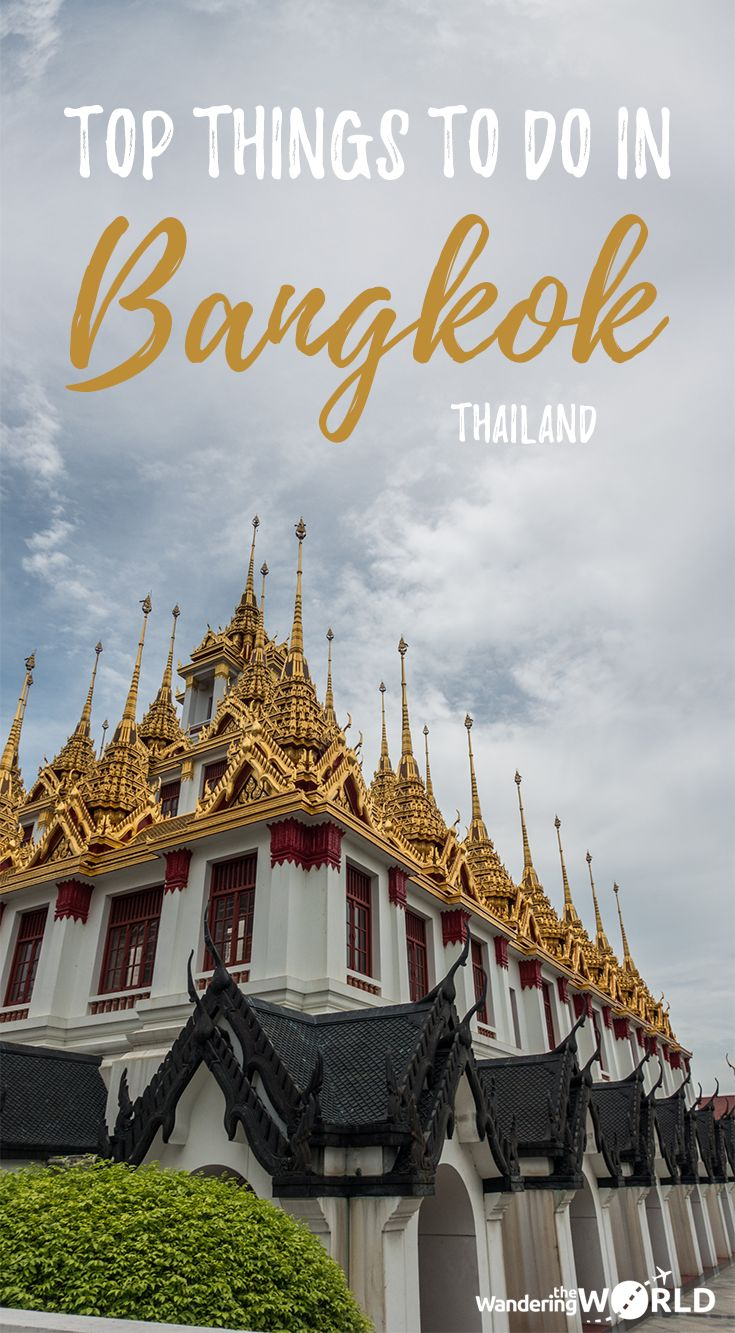 Click on this pin to check out which temples, parks, and markets you should definitely visit in Bangkok! - Loha Prasat (Metal Castle) at Wat Ratchanatdaram, one of the Top things to do in Bangkok, Thailand - Wandering the World - #Bangkok #Thailand