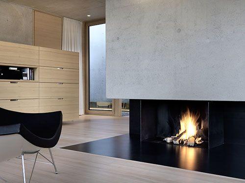 Wall Art, Modern Fireplaces, Vinyls Decals, House Design, Fireplaces Design, Dreams, Mart Mart Architekten, Concrete House, Germann House