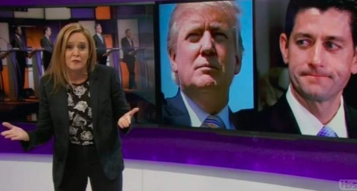 Samantha Bee shreds Paul Ryan: Trump isn't what the GOP stands for — 'he's what they bend over for' #NeverTrump