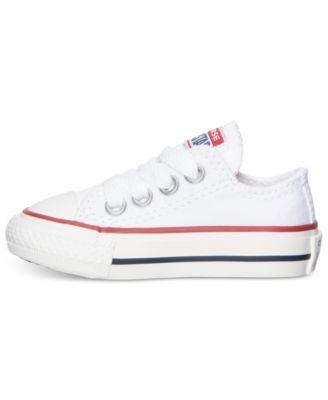 0d42e2e7f6ad6c Converse Toddler Boys  Chuck Taylor Original Sneakers from Finish Line -  White 10