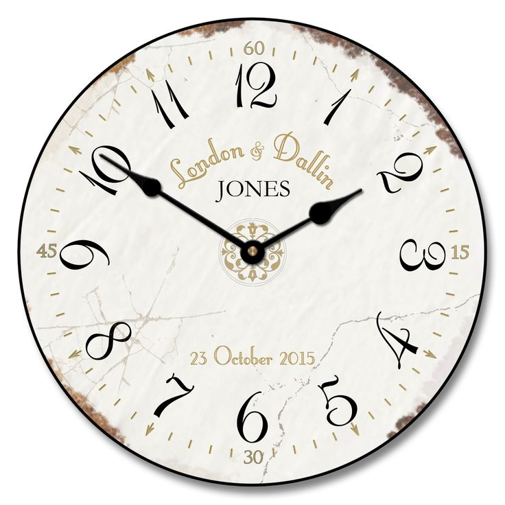 29 best Wedding Clocks images on Pinterest Large wall clocks