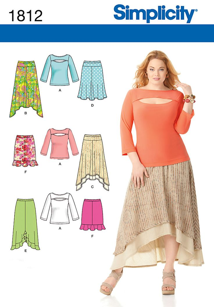 Simplicity Creative Group - Misses' & Plus Size Skirts and Knit Top:
