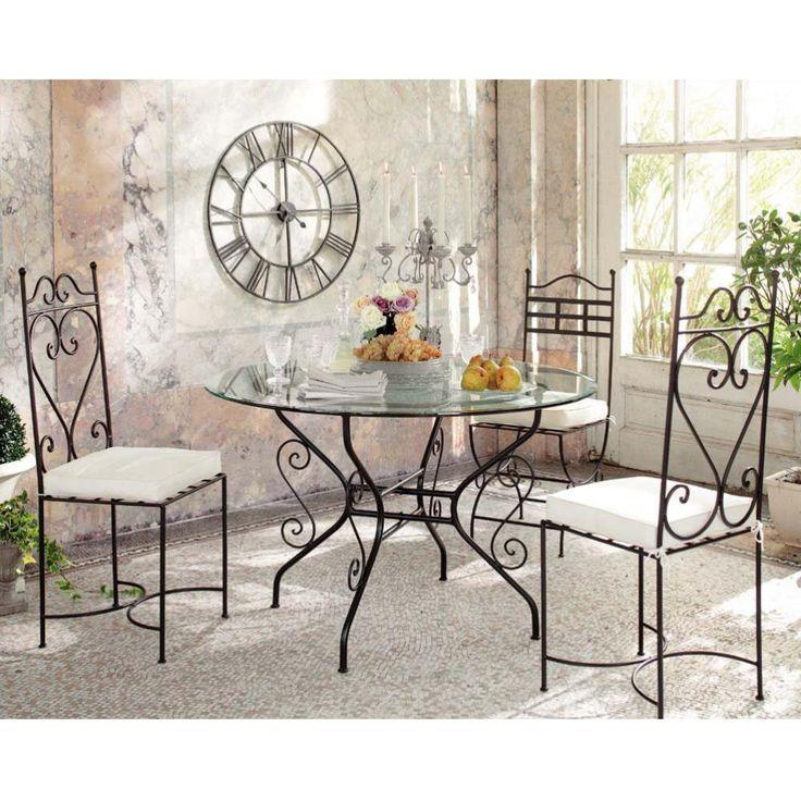 Les 25 meilleures id es de la cat gorie chaises en fer forg sur pinterest chaise industrielle for Le fer forge dans la maison