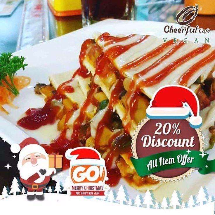 All Menu 20% Off at Cheerful Cafe @cheerfulcafe  Finding tasty vegan meals in the mall isn't a hard task anymore. Cheerful Cafe Vegan now presents promotion for vegan lover 20% discount Let's enjoy the healthy meal by Cheerful Cafe Vegan by showing your GoDeal coupon --- Pencinta Vegan kini tidak usah pusing-pusing lagi untuk mencari makanan lezat di dalam Mall. Cheerful Cafe Vegan menyediakan diskon 20% Ayo segera nikmati hidangan nan sehat persembahan dari Cheerful Cafe Vegan dengan…