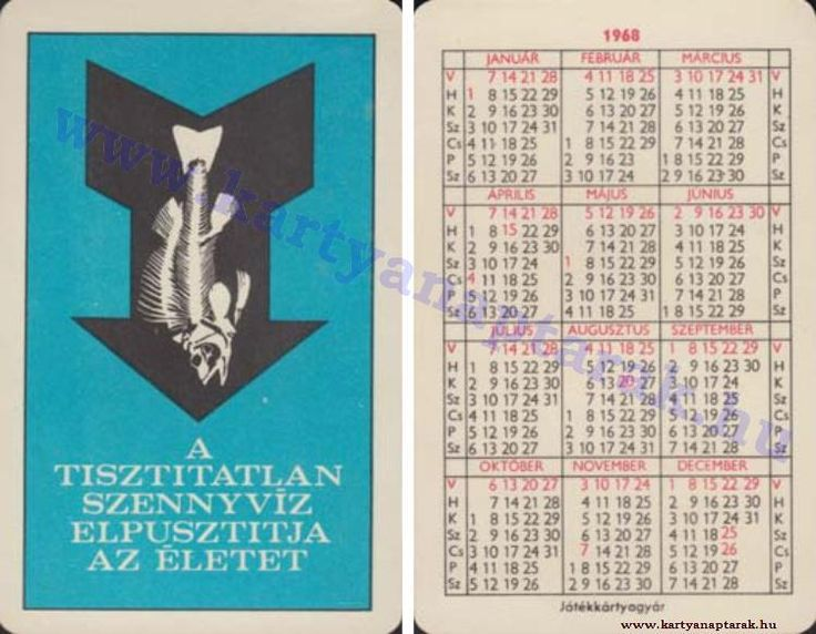 1968 - 1968_0222 - Régi magyar kártyanaptárak