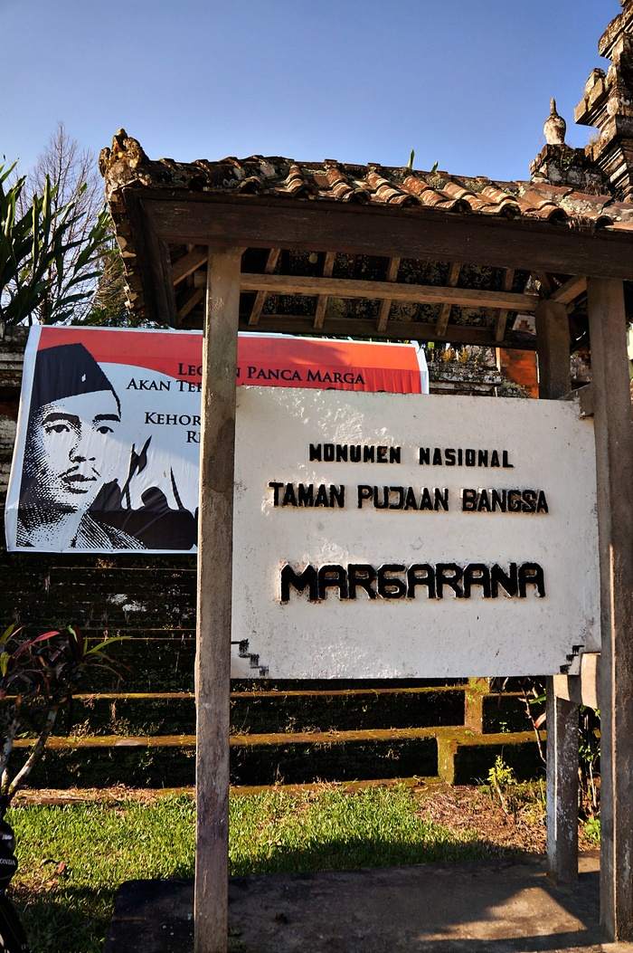 Respecting the fallen: The Margarana Memorial Park is built on Marga village located in Tabanan regency, north west of the airport, as a tribute to those who fought for the country. (Photo by Raditya Margi).