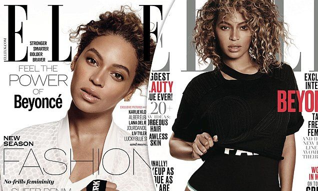 Beyonce shows off her natural beauty as she dons Ivy Park for Elle | Daily Mail Online