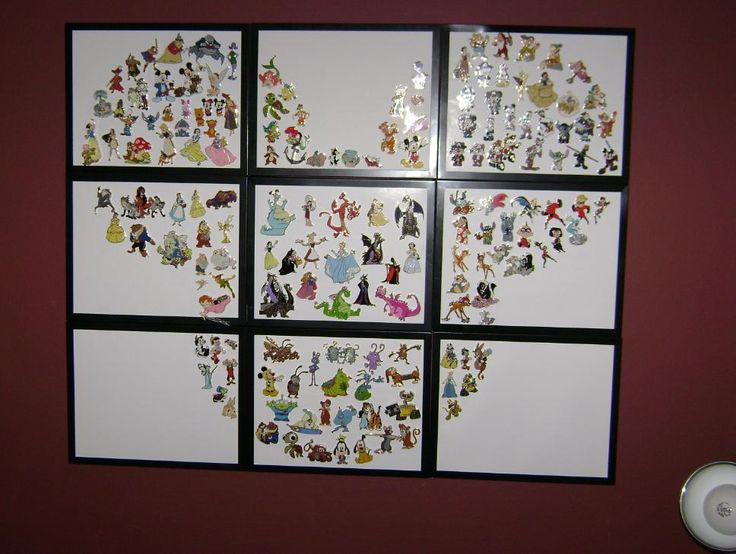 Another GREAT way to display Disney pins!! LOVE THIS!
