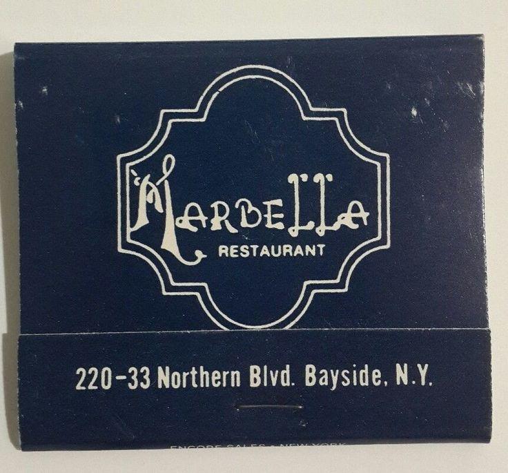 Marbella Restaurant Matchbook Spanish Cuisine Northern Bayside Queens NY 1970s #Marbella #BaysideQueens #Matchbook