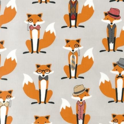 Foxes in Blue - Fox and the Houndstooth fabric by Robert Kaufman  Designer:  Robert KaufmanRange:  Fox and the HoundstoothPrint:  Foxes  $4.75 #foxandhound #fabric #robertkaufman