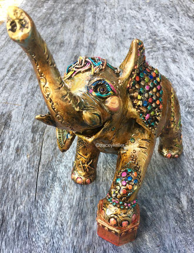 Elephant Edition 12 | Tracey Keller BRONZE Elephant Sculpture