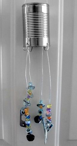 196 best wind chimes images on pinterest for Wind chimes from recycled materials
