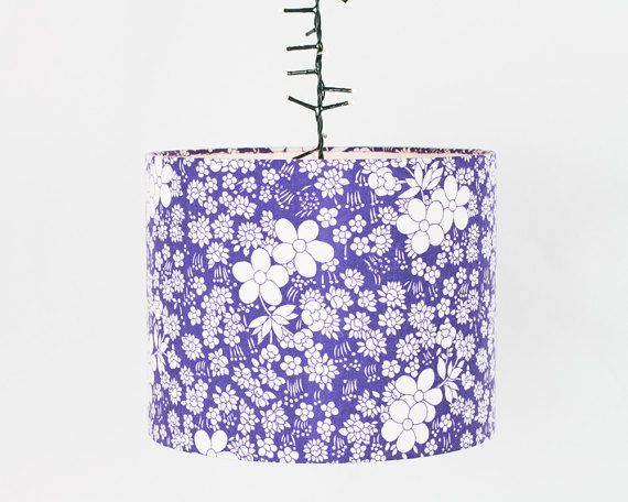Purple is pure joy as a colour, and will make a perfect splash of brightness in your room.  This lamp shade is a real attention-getter, both in scale and colour.  Large enough to be the ceiling pendant in a big living space or as a feature on a special lamp base.