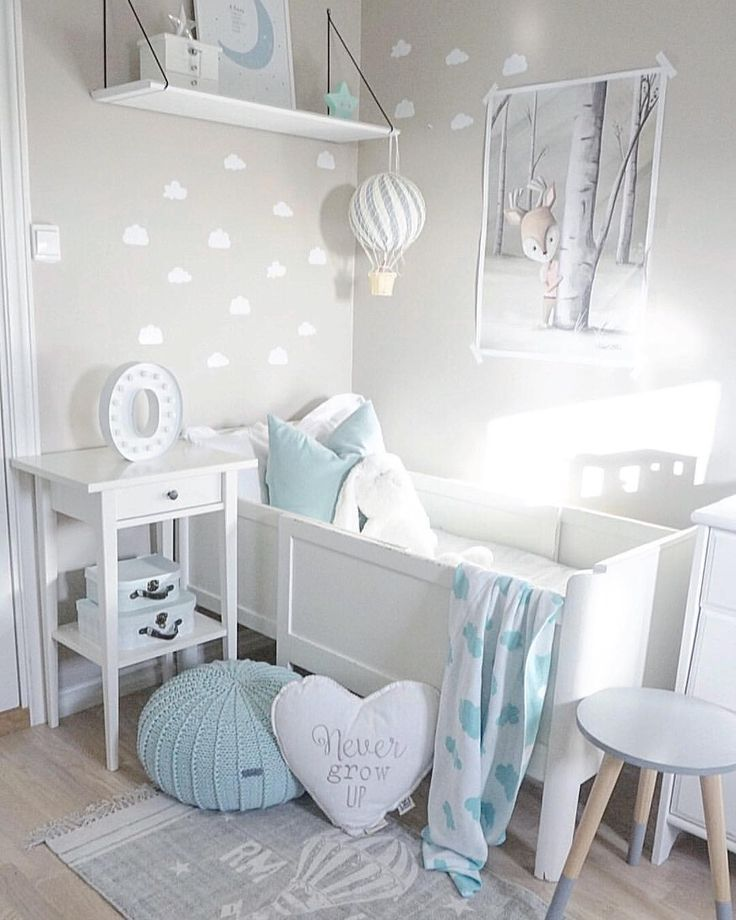 Inspiration from Instagram – light gray and blue nursery decor ideas – Interior || Kids || Baby (@baby_and_kidsroom_inspo) в Instagram: «Picture by: …