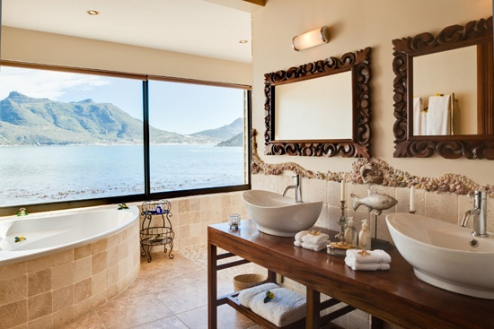 Bathroom at Tintswalo Atlantic, Chapman's Peak, South Africa>  Sure Travel Blog: Top 10 Baths with a View in South Africa