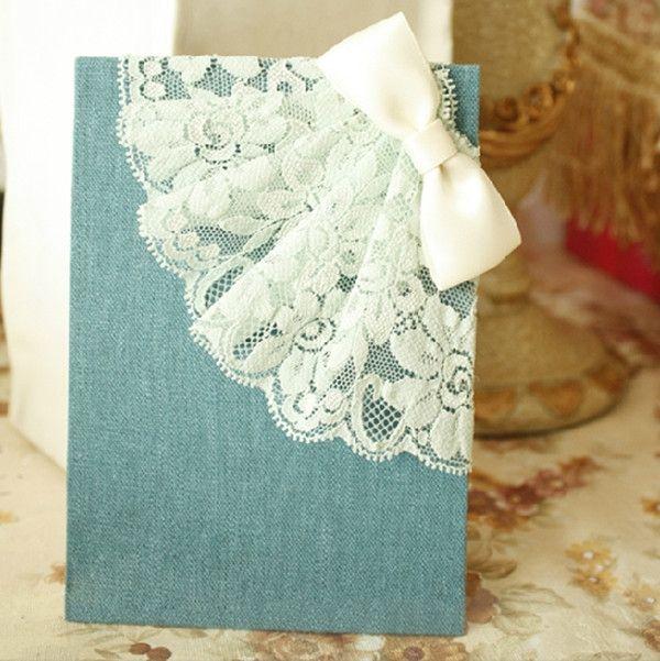 2015 Dantelli Düğün davetiyeleri modelleri