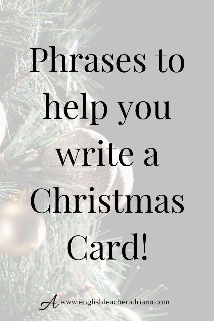 How To Write A Christmas Card
