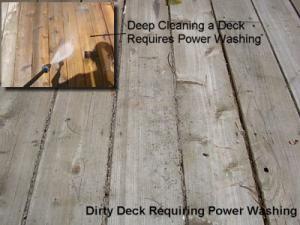 Como repintar una terraza de madera - Limpieza, lijado y entintado: Lavado a presión de una terraza de madera