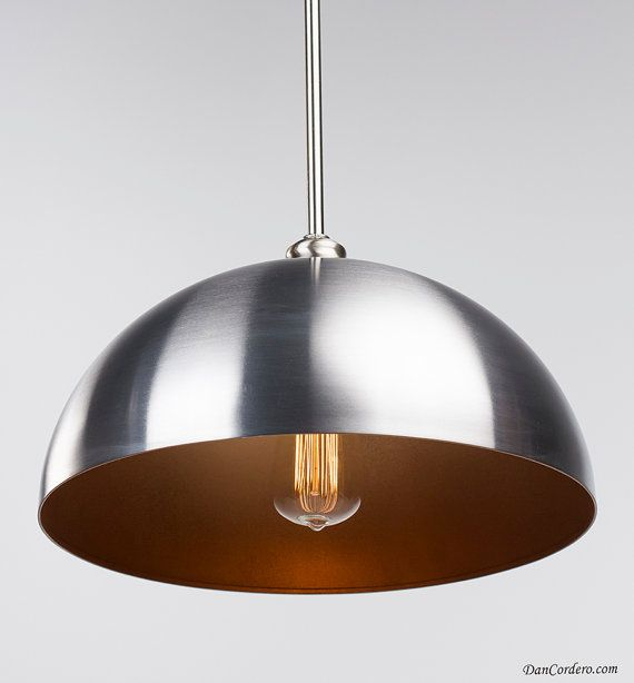 Copper & Brushed Nickel Edison Pendant Light By DanCordero