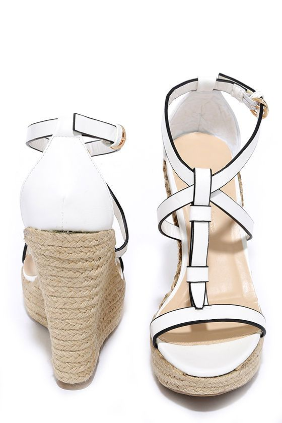Way You Look Tonight White Espadrille Wedges at Lulus.com!