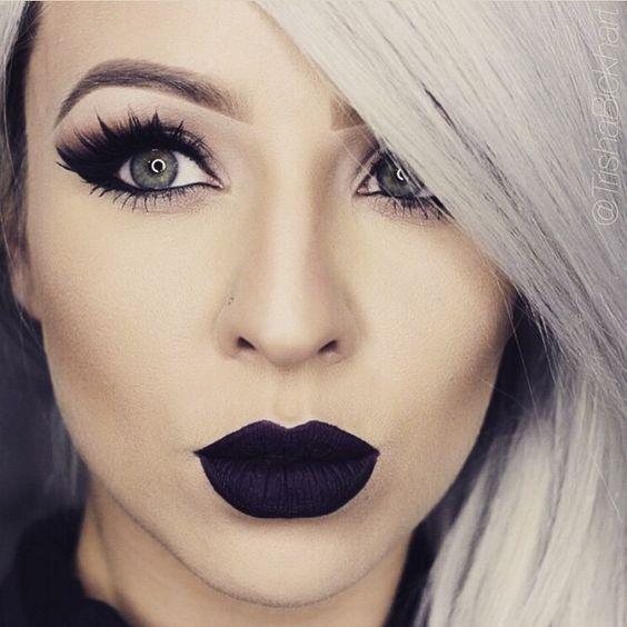 20  Awesome Black Lip Makeup Looks Ideas | ko-te.com by @evatornado