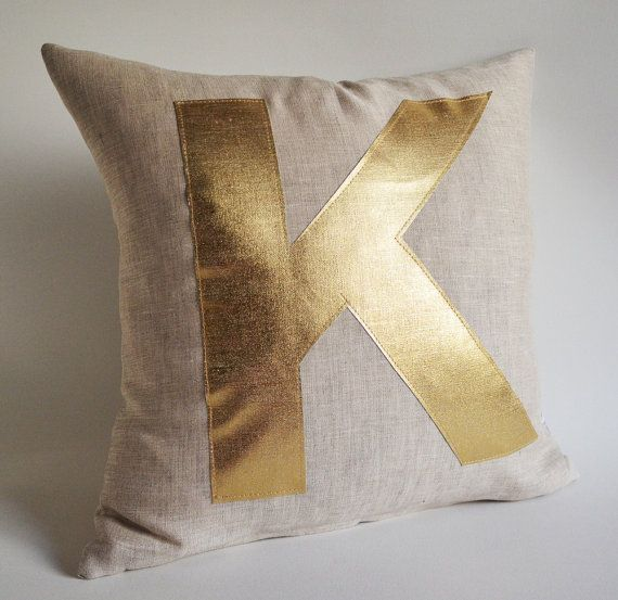 Hey, I found this really awesome Etsy listing at https://www.etsy.com/listing/100034396/sukan-gold-monogram-pillow-alphabet