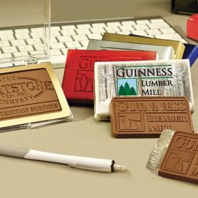 Cartes d'affaires en chocolat