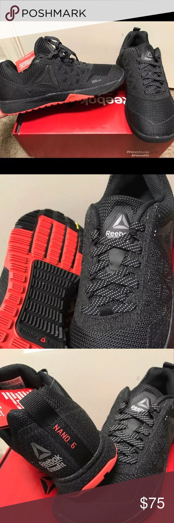 Reebok nano 6.0 size 7.5 women's Black and red new in box reebok nano 6.0 womens size 7.5 good for crossfit Reebok Shoes Lace Up Boots