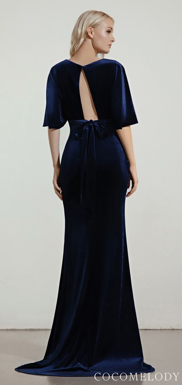 Bridesmaid Dress Trends 2020 With Cocomelody Belle The Magazine Velvet Bridesmaid Dresses Navy Blue Bridesmaid Dresses Bridesmaid Dresses With Sleeves