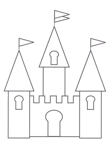 Фетровый замок для принцессы фото #6