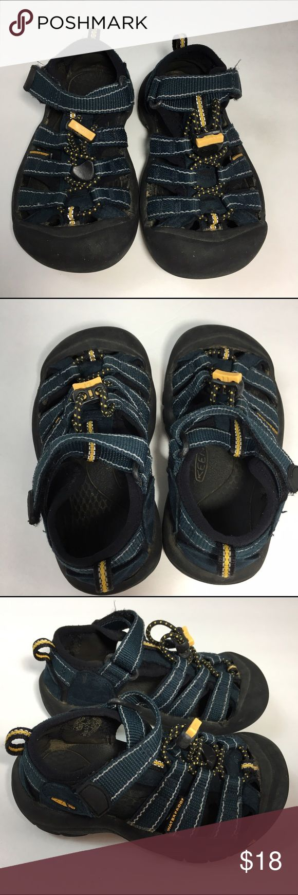 Keen Boys Newport h2 navy blue sandals sz 10 These are in good used condition. The size number has worn off but you can see it says the UK size 9 which is the US size 10. Keen Shoes Sandals & Flip Flops
