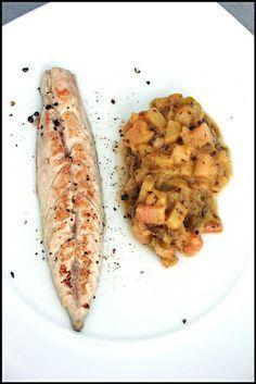 Filets de maquereau et chutney de rhubarbe
