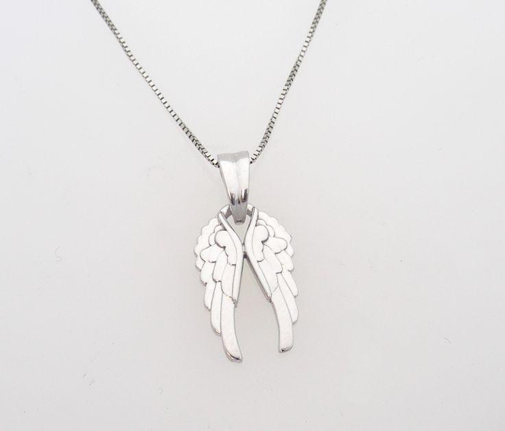 Angel Wings. White gold.  www.abrahamsjewellery.com