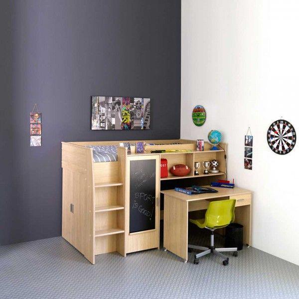 Kinderhochbett Abelle mit Schreibtisch