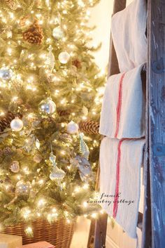 French Blue Cottage Christmas Tree & giveaway - FRENCH COUNTRY COTTAGE