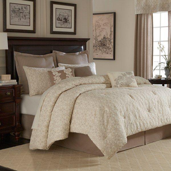 Royal Heritage Home™ Sonoma Comforter Set, 100% Cotton - Ivory - Bed Bath & Beyond