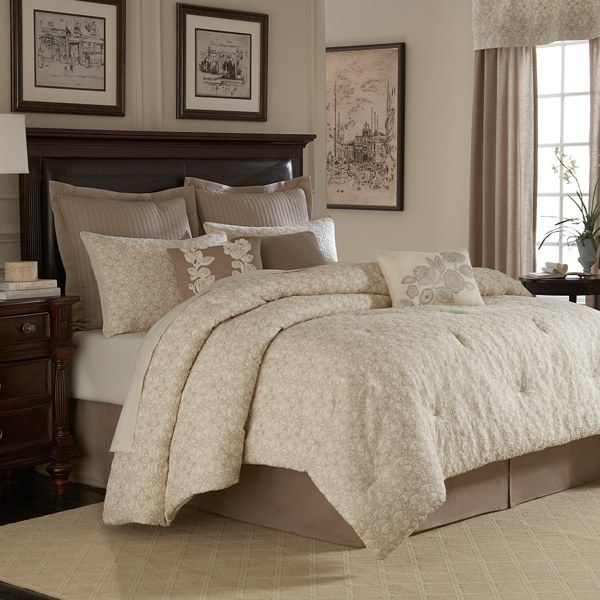 Royal Heritage Home™ Sonoma Comforter Set, 100% Cotton - Ivory - Bed Bath & Beyond