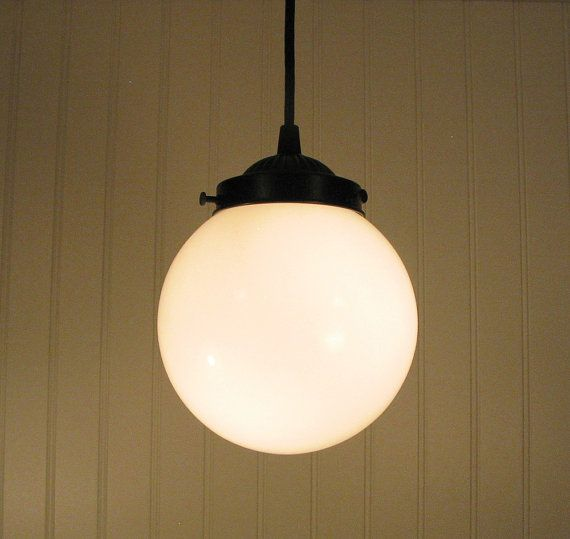 Winterport II. Milk Glass PENDANT Light Fixture