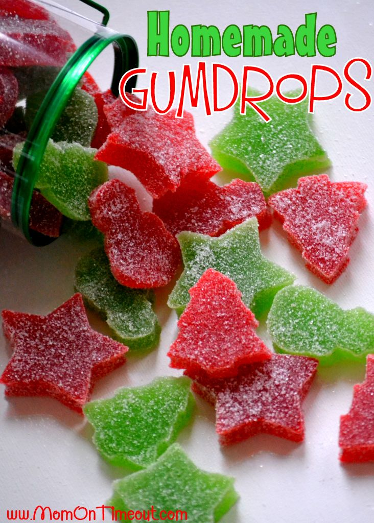 """Homemade gumdrops. """"This recipe was so much fun!  The best part is that they are SO easy!  It's like making jello and then dipping them in sugar – so simple yet so delicious."""" Can't wait to try these."""
