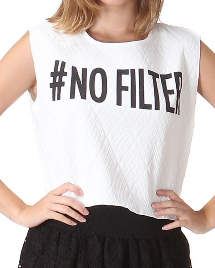 No Filter Crop Tank Top from The Shopping Bag